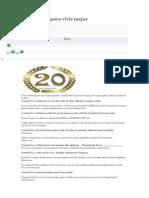 20 Consejos Para Vivir Mejor