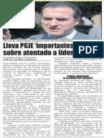 30-10-2014 Lleva PGJE 'importantes avances' sobre atentado a líder de CNOP