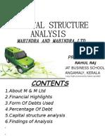 Mahindra and Mahindra analysis