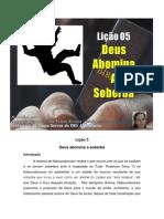 Licao 5 - Subsidio - Deus Abomina a Soberba