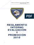 Reglamento Evaluacion Eagles College 2010
