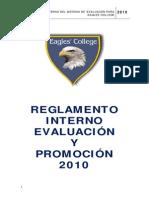 Reglamento Evaluacion Eagles College 2010