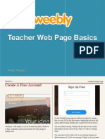 Weebly Teacher Page Basics
