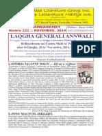 Maltese Literature Group Inc. Grupp Letteratura Maltija Ink. Novembru 2014