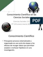 PROF. OLGA SANTIAGO C3 sosc 111 CONOCIMIENTO CIENTÍFICO EN LAS CIENCIAS SOCIALES