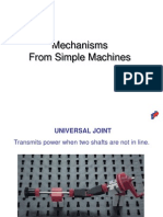 Mechanisms from simple machines