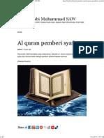 Al Quran Pemberi Syafaat _ Hadis Nabi Muhammad SAW