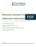 Emu Pa Program Admission