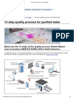 14 Step Quality Process for Purified Water