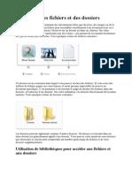 Utilisation Des Fichiers Et Des Dossiers