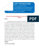IEEE 2014 JAVA DATA MINING PROJECT Privacy Preserving Delegated Access Control in Public Clouds