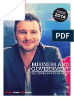 2014 Business Government UG Degrees