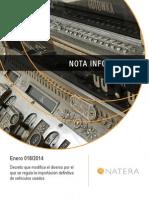Nota Informativa 018-2014