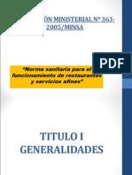 5.3_ Normativa 363-2005- Restaurantes y Afines
