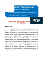IEEE 2014 .NET DATA MINING PROJECT Searching Dimension Incomplete Databases