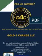 Gold4Change y sus beneficios