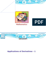 APPLICATION OF DERIVATIVES CLASS 12 ISC