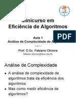 Análise de Complexidade de Algoritmos