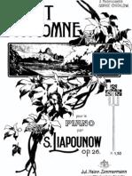 Lyapunov - Chant d'Automne, Op 26