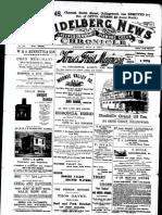 Heidelberg News May 1900