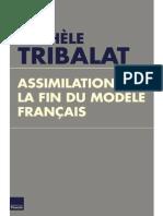 Assimilation - La Fin Du Modèle Français - Michèle Tribalat