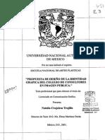 Propuesta de Diseño de La Identidad Grafica Del Colegio de Consultores en Imagen Publica.