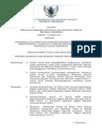 PERMEN PAREKRAF No_7 TAHUN 2014 Tentang Penyelenggaraan Sertifikasi
