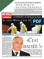 Le Soir d Algerie Du 25.10.2014