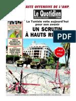 Le Quotidien d'Oran Du 26-10-2014