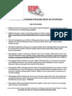 Stop the Atlantic Sunrise Pipeline Flyer
