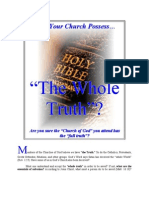 """Does Your Church Possess…  """"The Whole Truth""""?"""