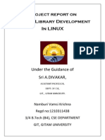 Shared Library Project Report