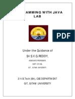 Java Programming Lab Manual