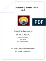 Java Programming Lab Manual