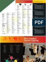 Five Animals Qigong Leaflet