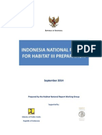 Indonesia National Report for Habitat III Preparation
