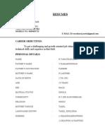 Resume of Varatharajan