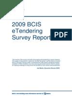 2009 BCIS ETendering Survey Report