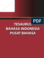 Tesaurus Bhs. Indonesia