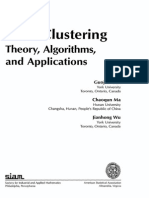 Clustering Theory Applications and Algorithms