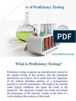 Overview of Proficiency Testing