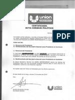 Certificado baja antes afiliación VOX