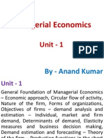 Managerial Economics Unit 1
