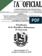 Constitución Venezolana Con Enmienda 2009 y Exposicion de Motivos