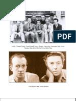 1930 - Tristan Tzara, Paul Eluard, Andre Breton, Hans Arp,