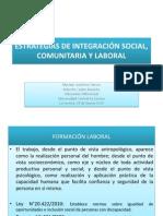 Estrategias de Integración Social, Comunitaria y Laboral