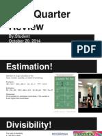 math first quarter review