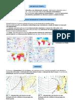 Principais estados do tempo em Portugal (10.º)