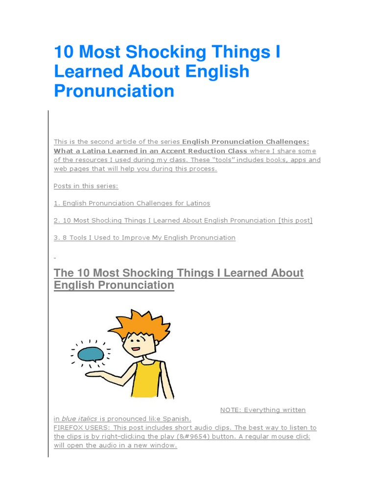 10 Most Shocking Things I Learned About English