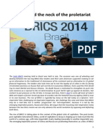BRICS around the neck of the proletariat